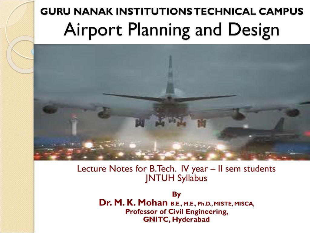 Guru Nanak Institutions Technical Campus Airport Planning