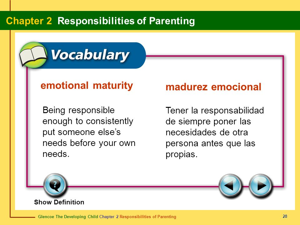 emotional maturity madurez emocional