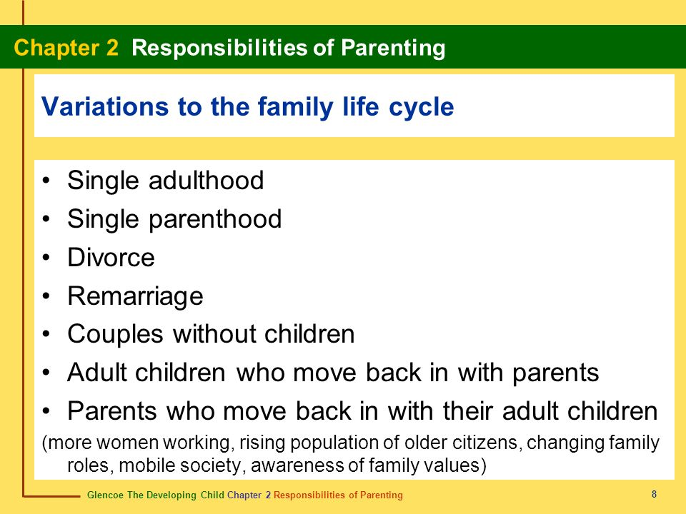 Variations to the family life cycle