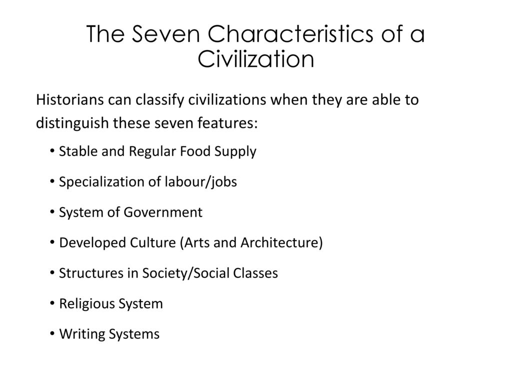 characteristics of civilization - Forte.euforic.co