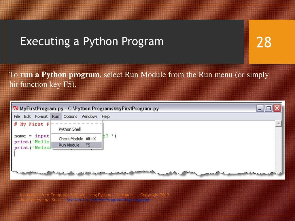 python menu program I am aware of the die() command in php which stops a script early how can i do this in python.