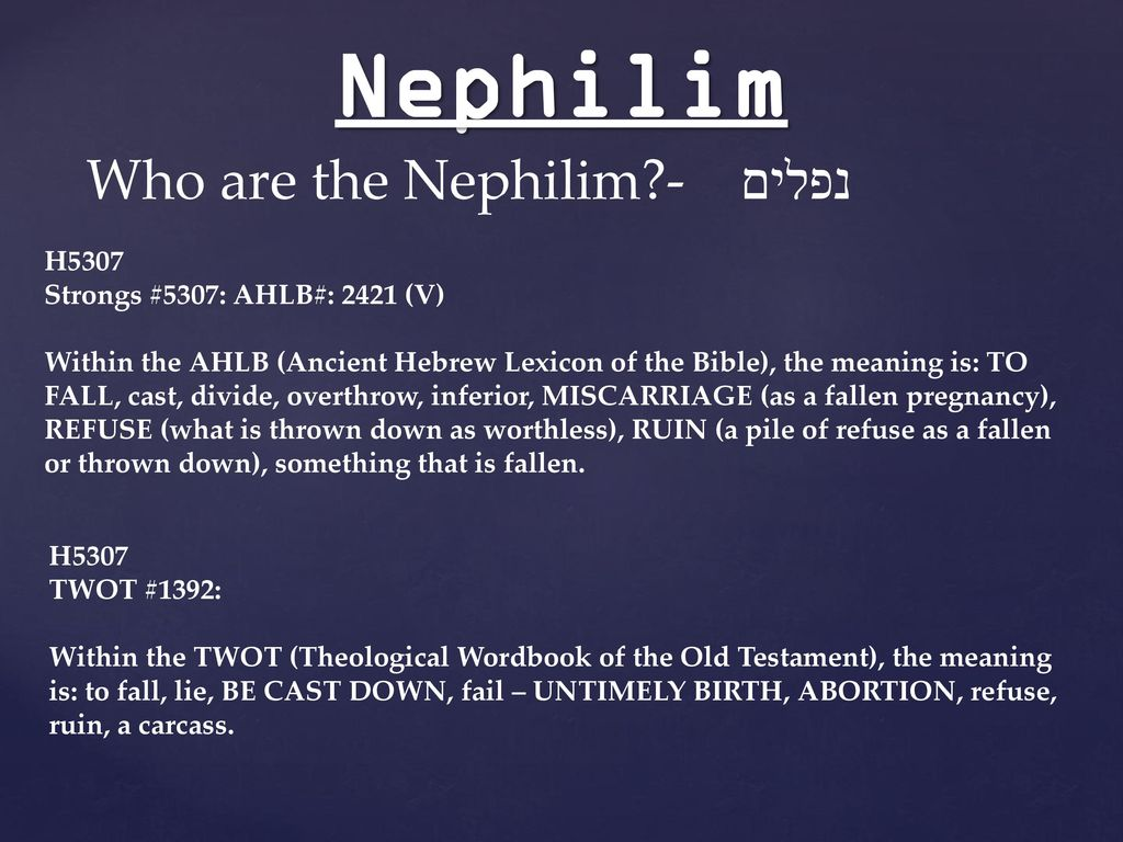 Nephilim Ppt Download