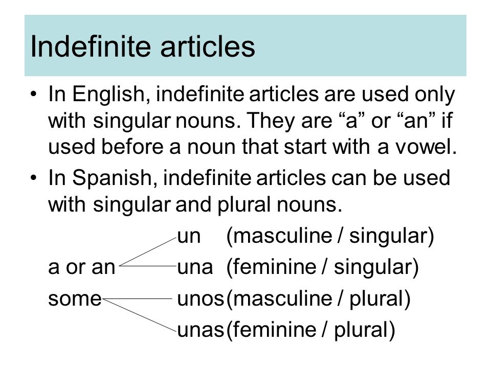 Definite and indefinite articles - ppt download