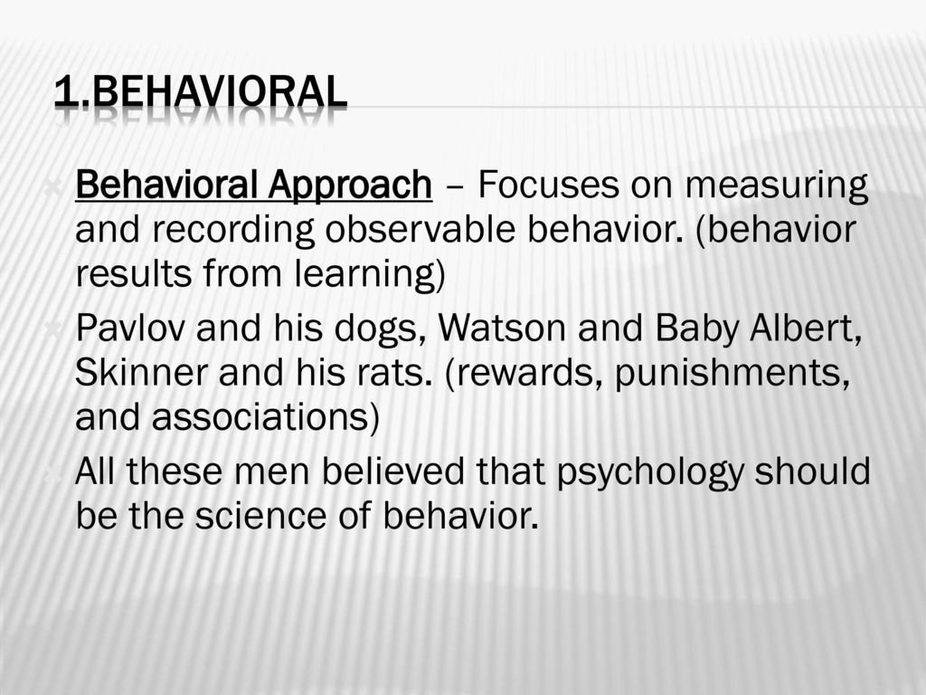 Chapter 13 The Behavioral/Social Learning Approach: Theory and ...
