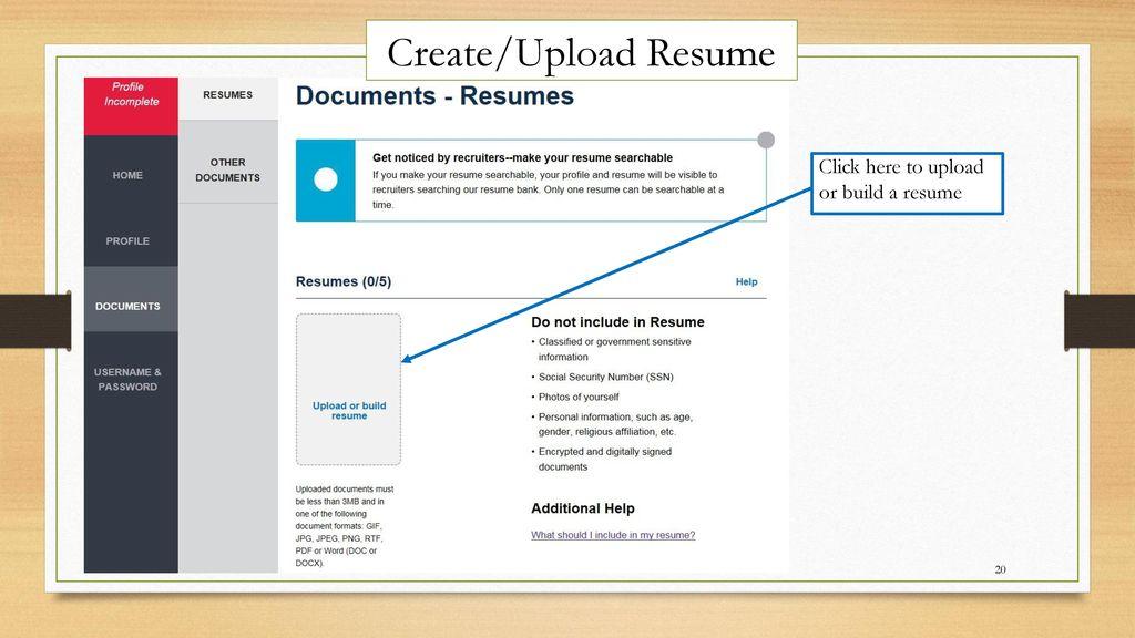 how to navigate usa jobs