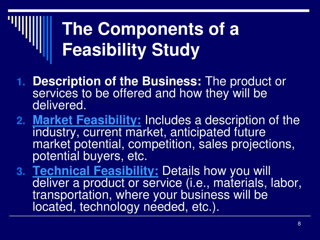 feasibility formats