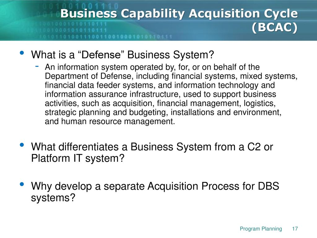 Capability Data Acquisition System : Isa intermediate information system acquisition ppt