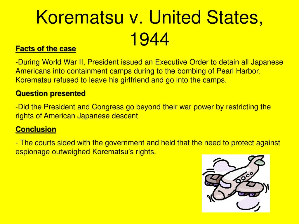 worksheet Korematsu V United States Worksheet landmark supreme court cases ppt video online download 13 korematsu v united states