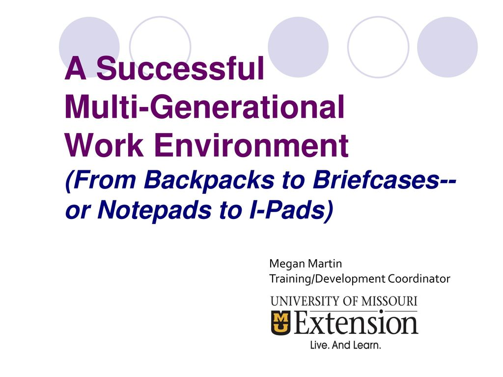 A successful multi generational work environment from backpacks to a successful multi generational work environment from backpacks to briefcases or notepads sciox Choice Image