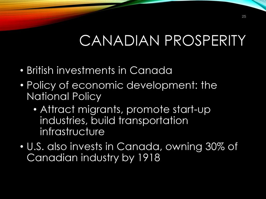 an analysis of the infrastructure and economic prosperity of canada While canada's economic growth was largely dependent on higher labour force   investments in infrastructure and in innovation will form the foundation for a   with a summary report of what was heard to be presented to ministers at their.
