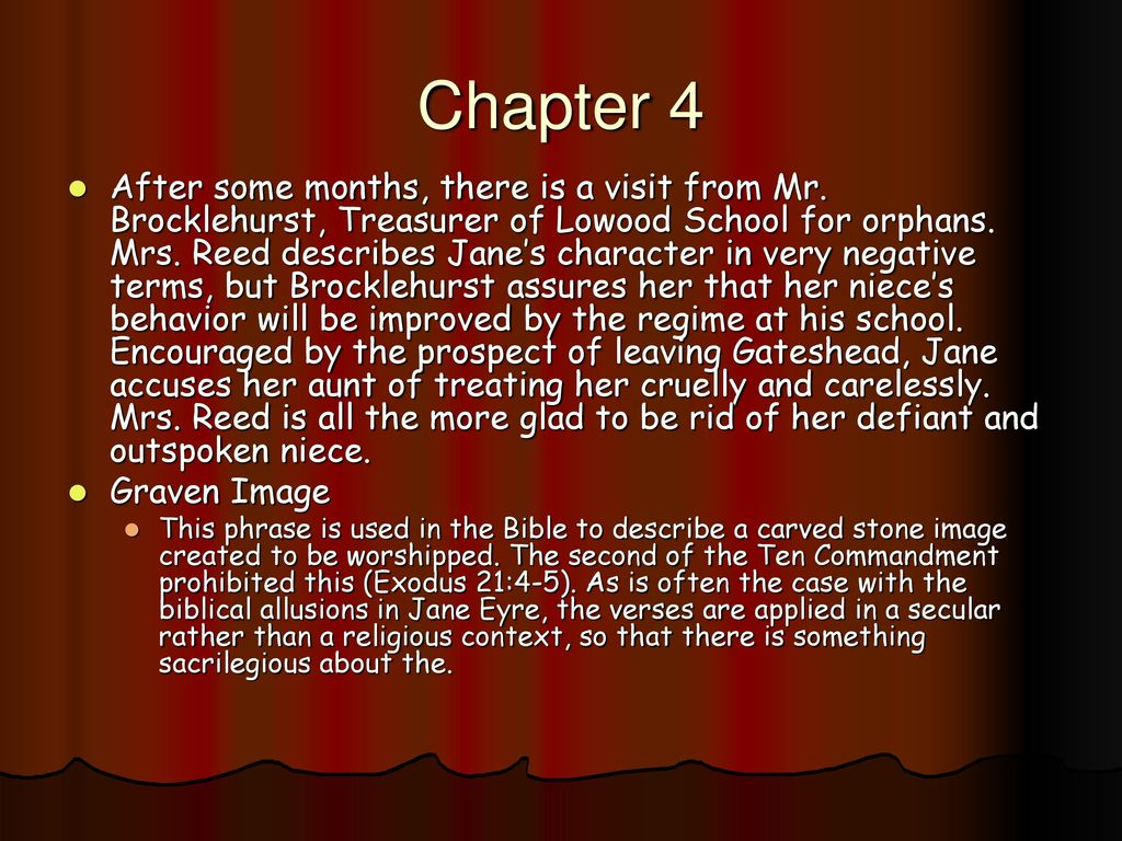 biblical allusions in jane eyre by charlotte bronte Use of allusion in jane eyre but something more important arises from the biblical and shakespearean allusions in the novel jane eyre by charlotte bronte.