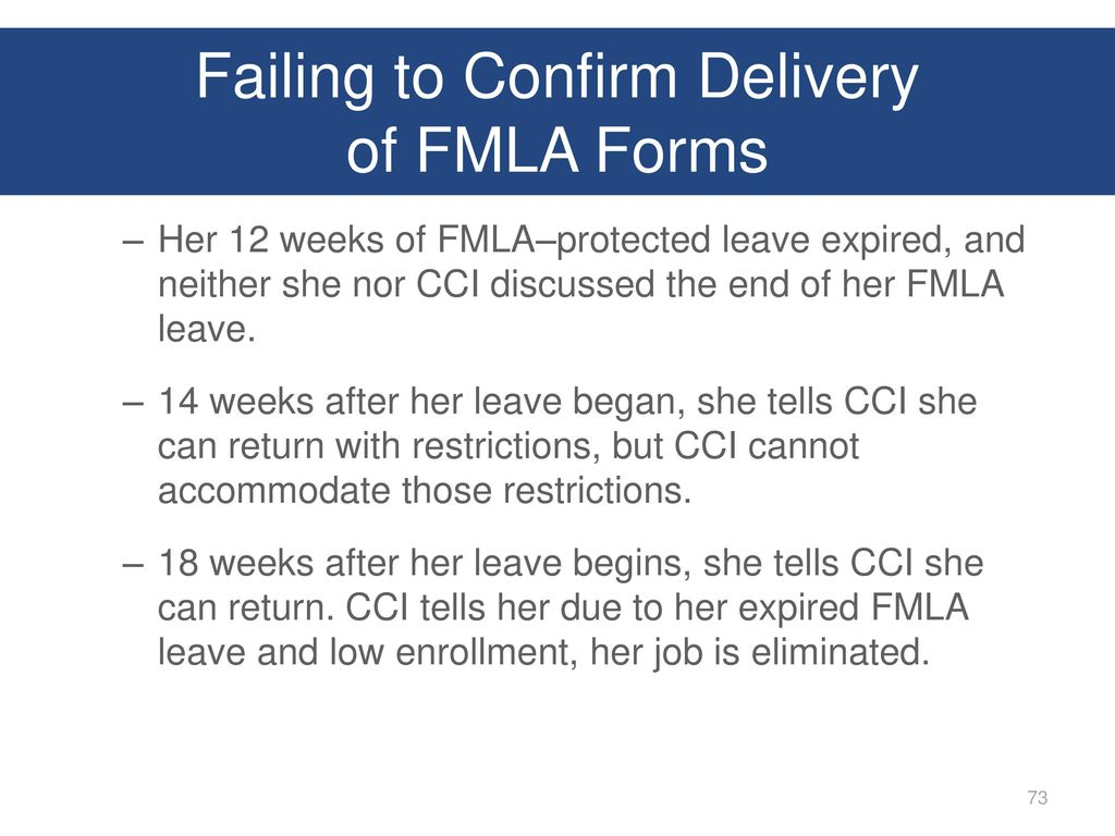 Presented by josh waltman ppt download failing to confirm delivery of fmla forms falaconquin