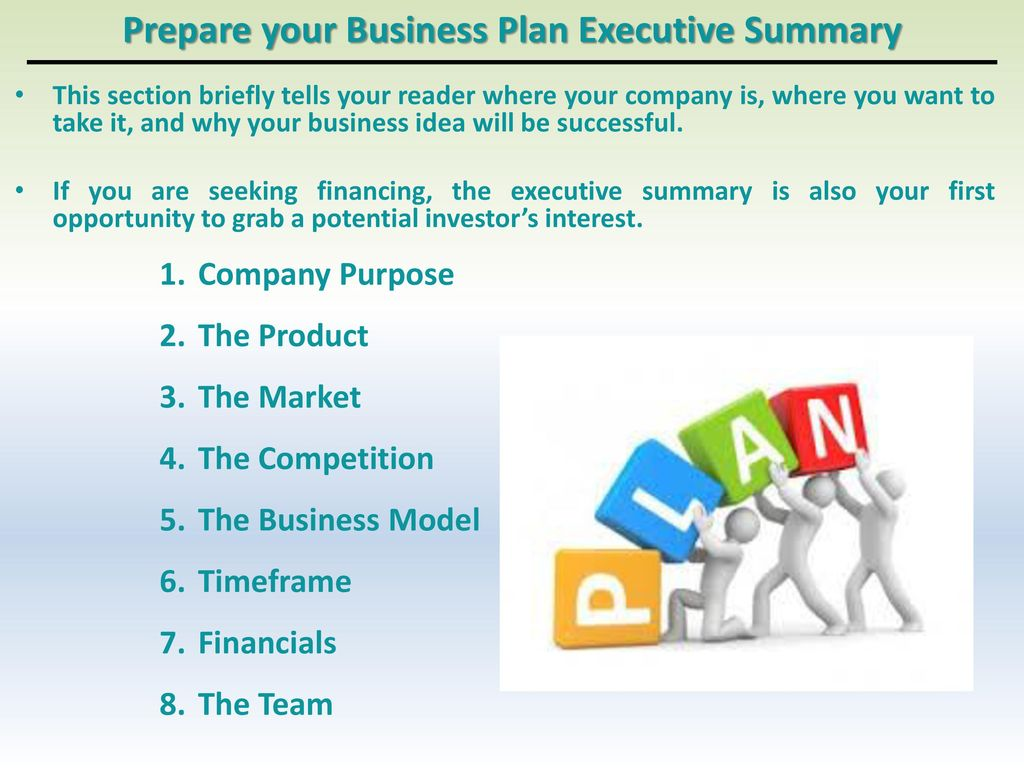 purpose of business plan competition
