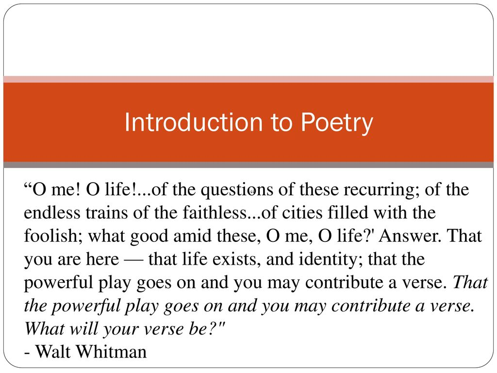 an introduction to the life of walt whitman The result is an innovative introduction to walt whitman that focuses on those places where the writer's life and work most thoroughly melded folsom and kenneth price are co-directors of the walt whitman archive, and the electronic edition at wwwwhitmanarchiveorg offers readers further opportunities for study.