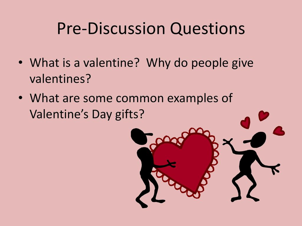 Elegant 2 Pre Discussion Questions What Is A Valentine?