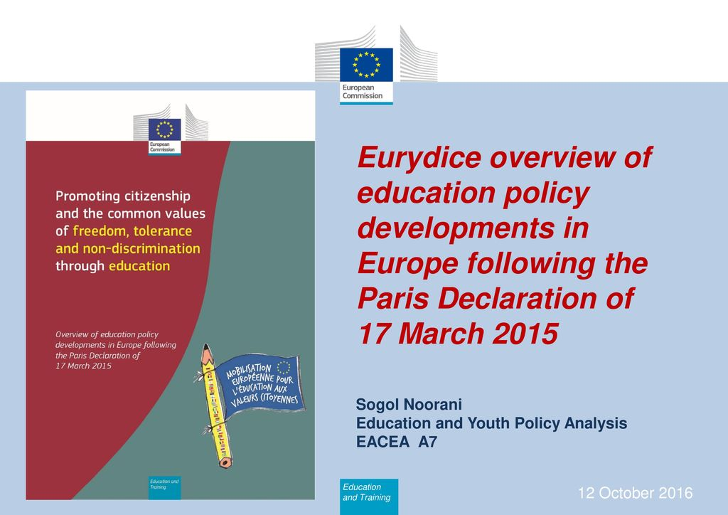 Eurydice overview of education policy developments in Europe following the Paris Declaration of 17 March 2015