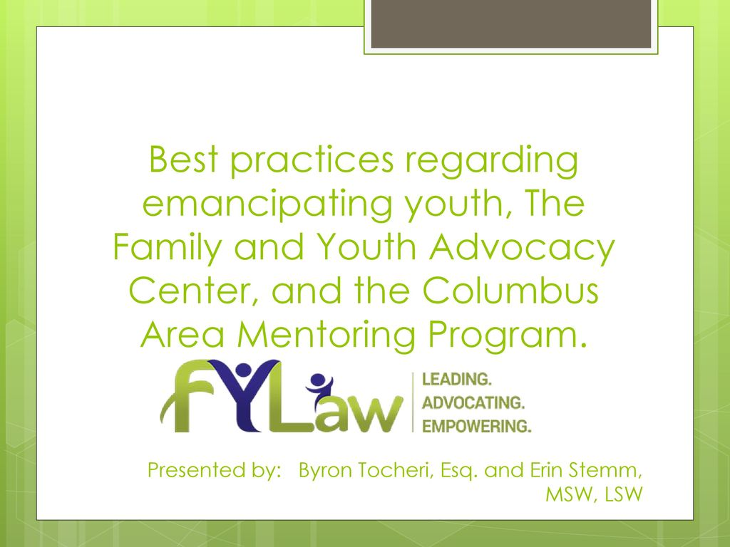 advocacy for families and youth Youth advocacy is a statewide project that targets youth and young adults with disabilities family members, guardians, advocates.