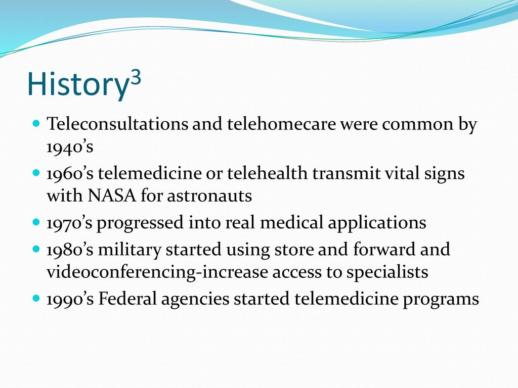 History of physical therapy treatment - 7 History3 Teleconsultations