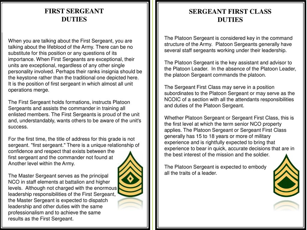 the staff sergeant leadership dilemma Module 6 case study the staff sergeant's leadership dilemma 1) the  leadership style donna used was a directive or task-oriented approach she  divided up.