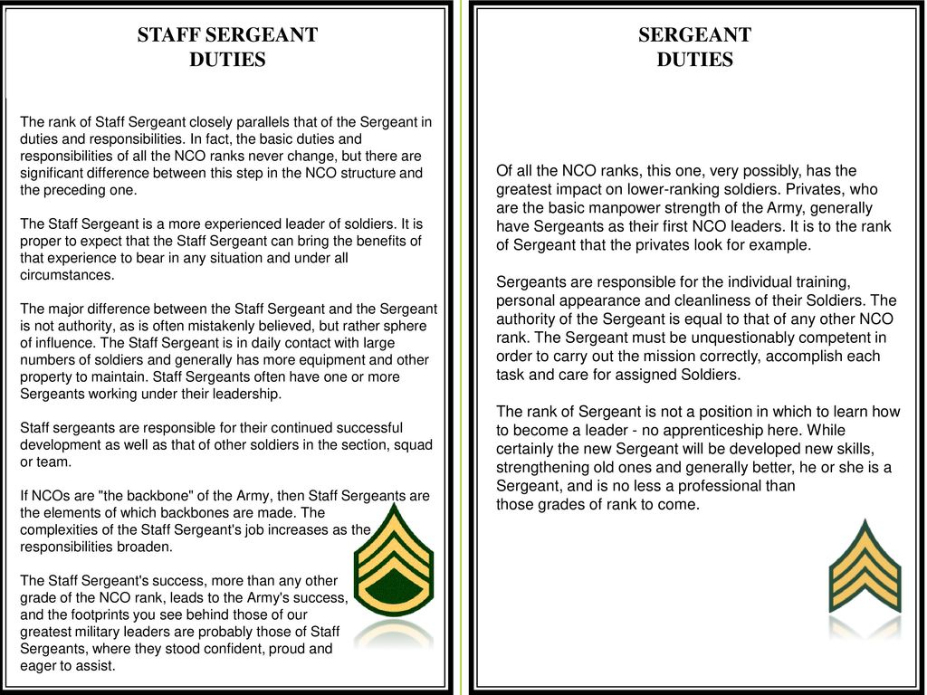 the staff sergeant leadership dilemma March 18, 1996 imperial bank of commerce decided to build an edenic leadership center for its managers and employees on a rolling 100 dilemma, and put one.