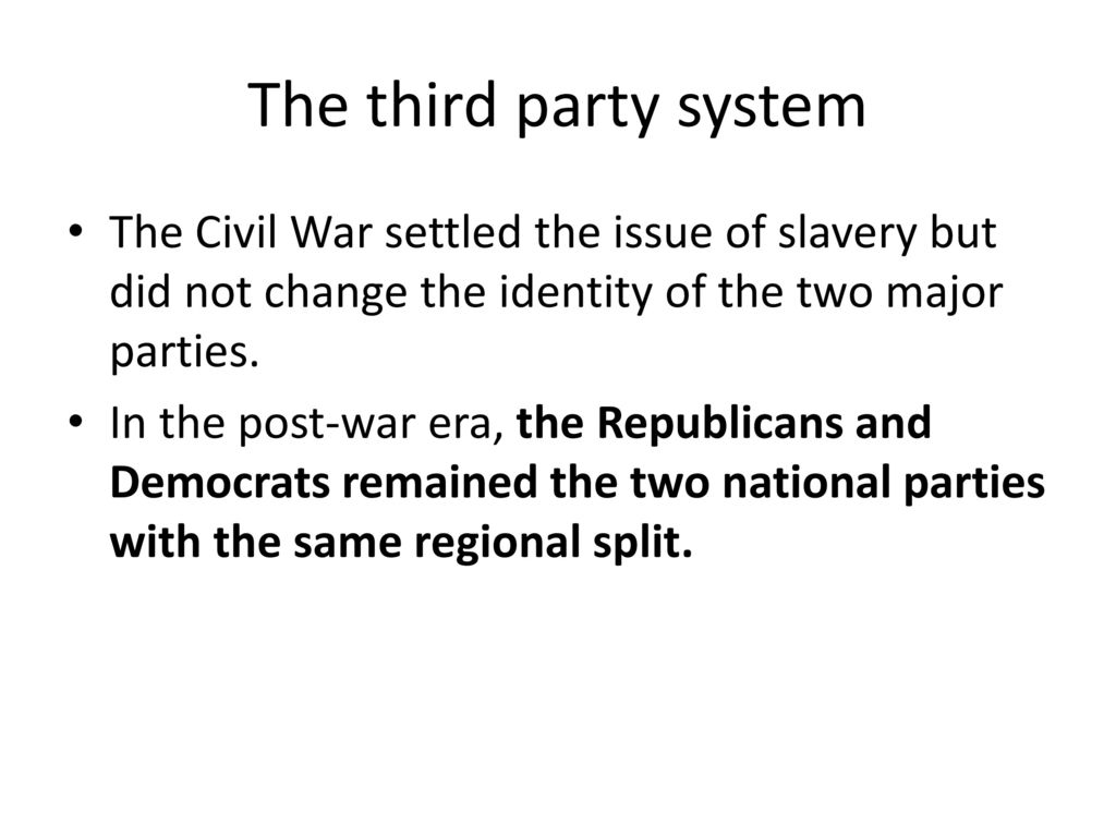 the american civil war split the nation in two Although the civil war faced with these problems it's conceivable that the republicans could have been the party to split into two the great mistake - why did.