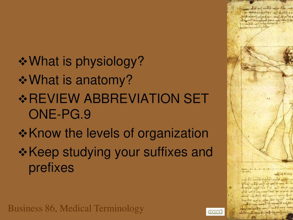 Modern Anatomy And Physiology Prefixes And Suffixes Elaboration ...