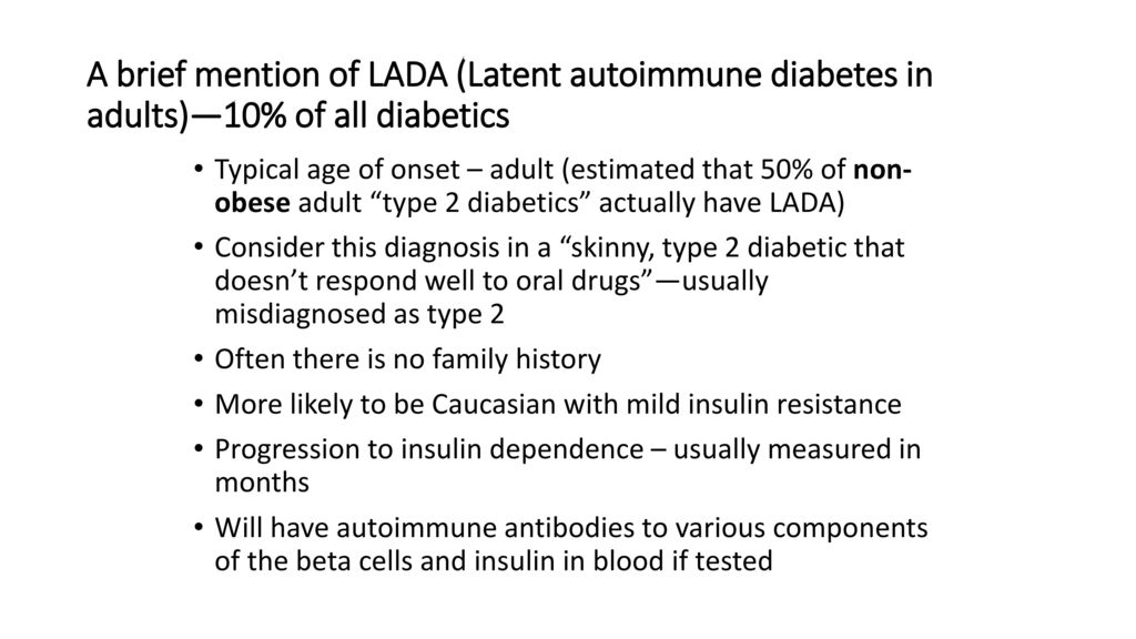 latenter diabetes definition
