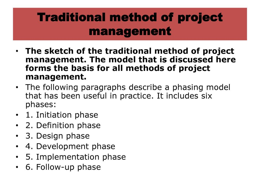 Lease project finance ppt download for Traditional project management methodology