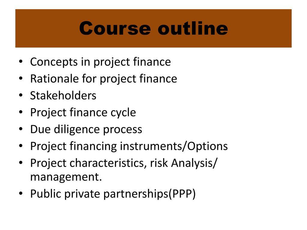 financial management course outline pdf