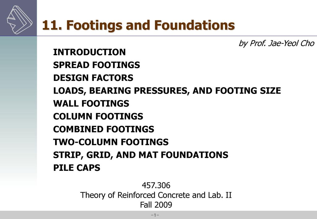 Theory of Reinforced Concrete and Lab  II