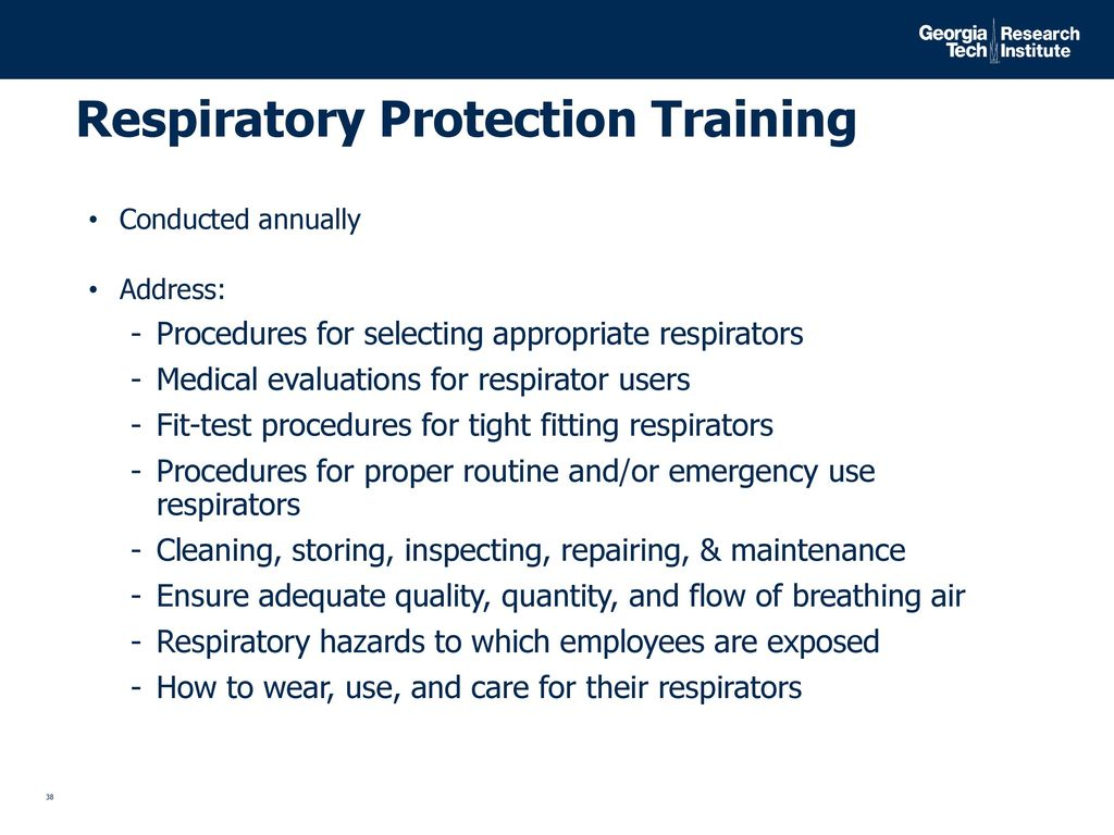 Review of oshas silica standard for construction ppt download respiratory protection training 1betcityfo Choice Image