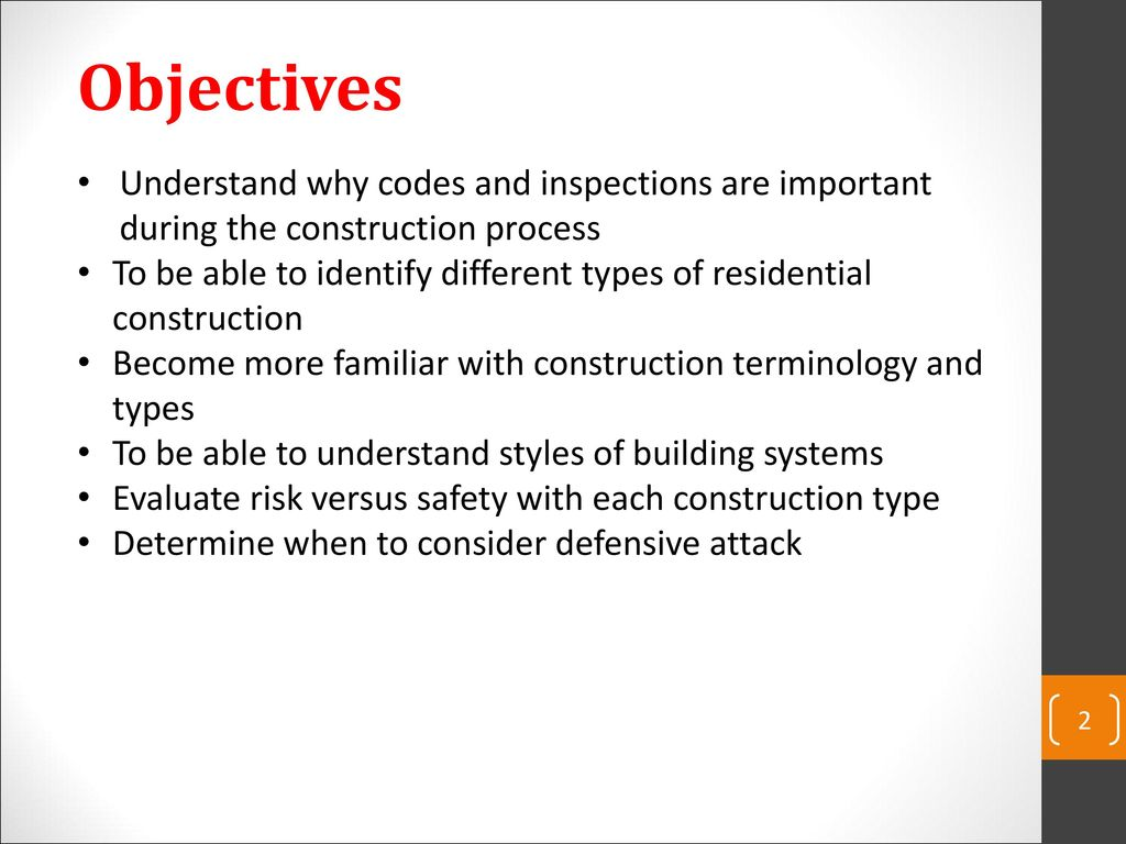 Building construction for the fire service ppt download building construction for the fire service 2 objectives understand thecheapjerseys Choice Image