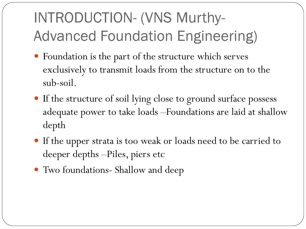 SHALLOW FOUNDATION. - ppt download