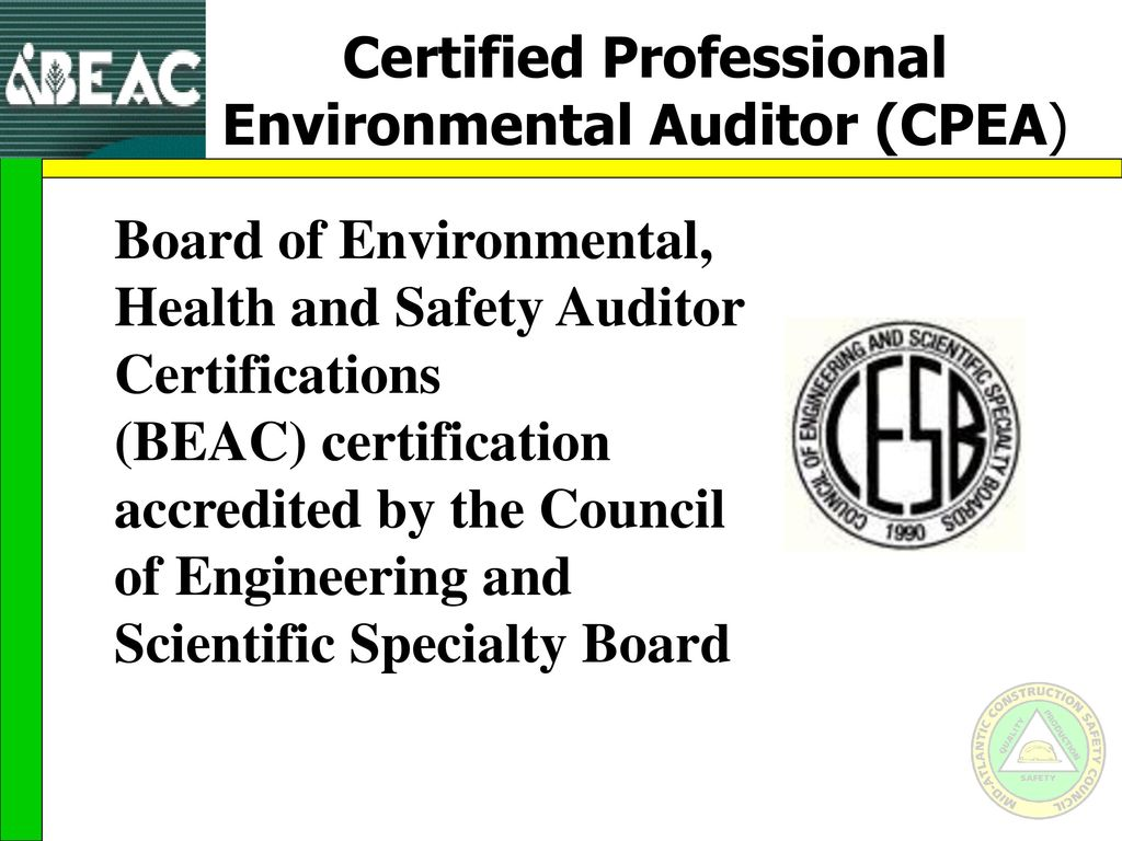 Career paths for the safety professional ppt video online download 41 certified professional environmental xflitez Gallery