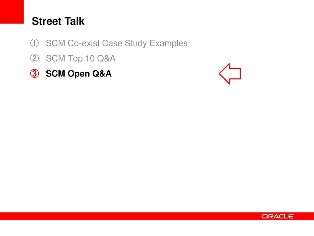 oracle scm case studies Infosys has made successful oracle implementations, delivering enhanced productivity for clients in us, the middle east and china view our success stories.