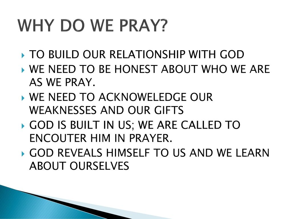 building our relationship with god