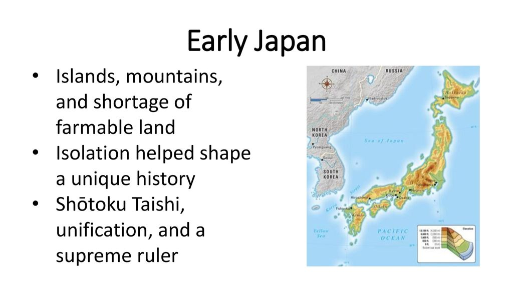 Early Japan Islands, mountains, and shortage of farmable land - ppt ...