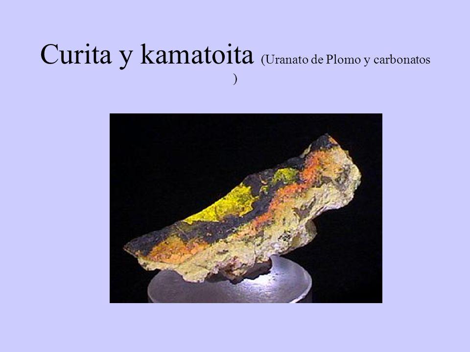 Curita y kamatoita (Uranato de Plomo y carbonatos )