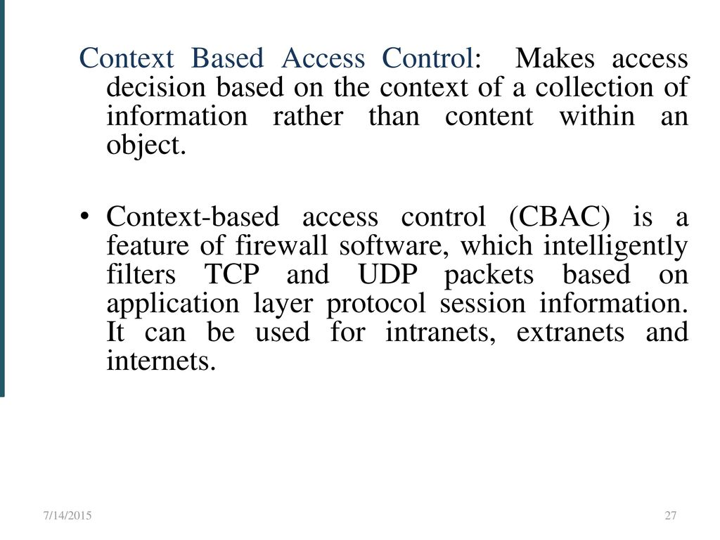 access control is the collection of Samba access control facilities unix file and directory permissions samba honors and implements unix file system access controls users who access a samba server will do so as a particular ms windows user this information is passed to the samba server as part of the logon or connection setup process samba uses this user identity to validate.