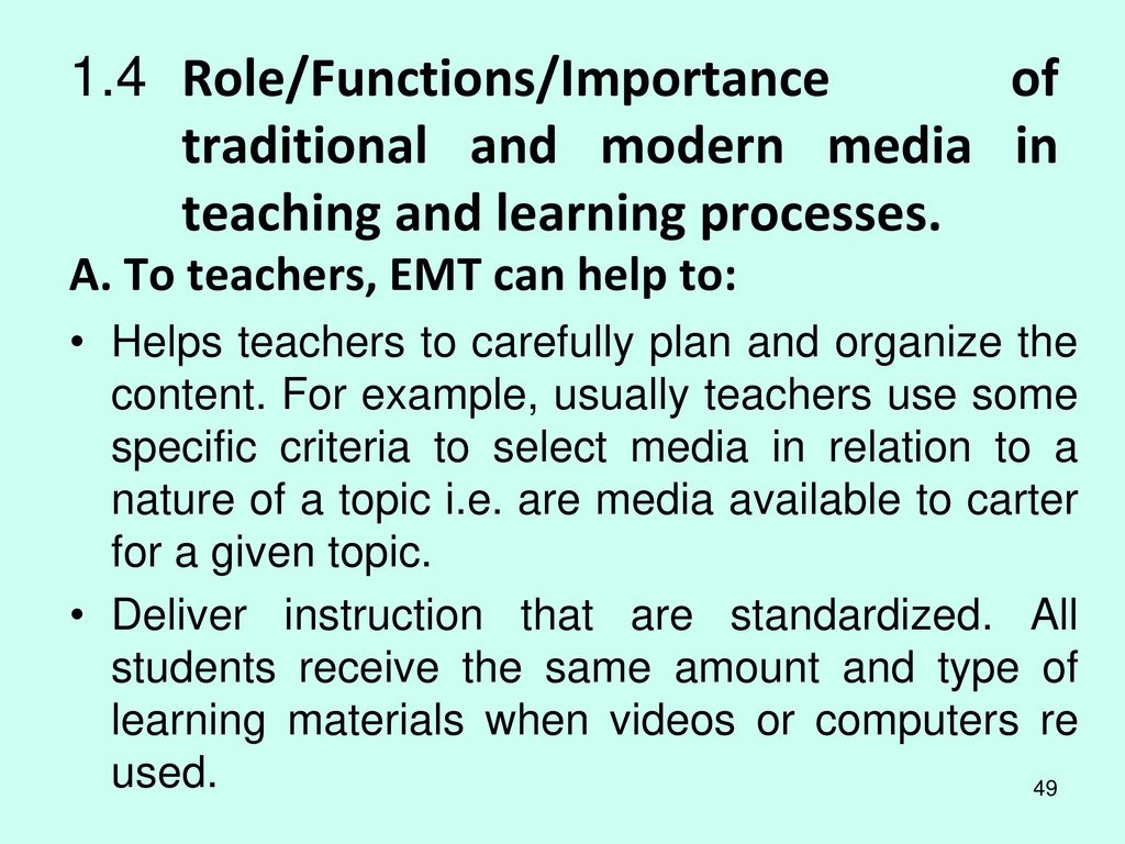 importance of electronic media in education So mass media is one such potent force in the social environment of education  through modern electronic techniques and technologies, mass media prove that.
