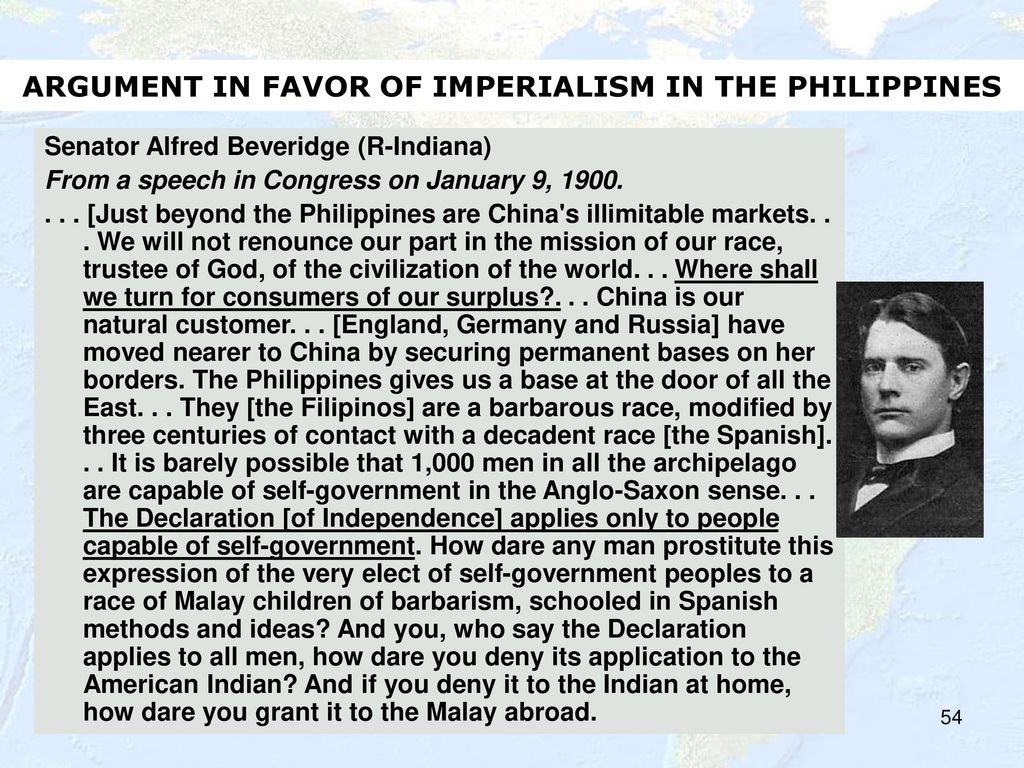 an argument against imperialism To understand what effects ww2 had on the nature of the fight against  colonialism and imperialism in africa we need to look at the climate just.
