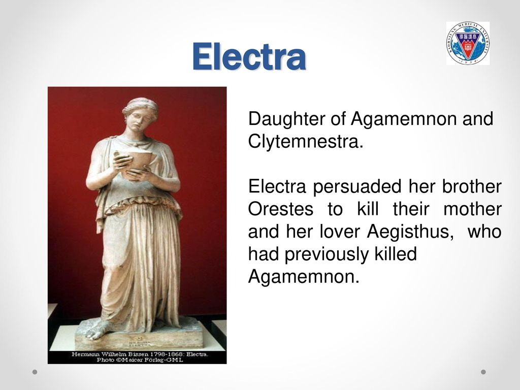 The reflection of the traits of clytemnestra and electra