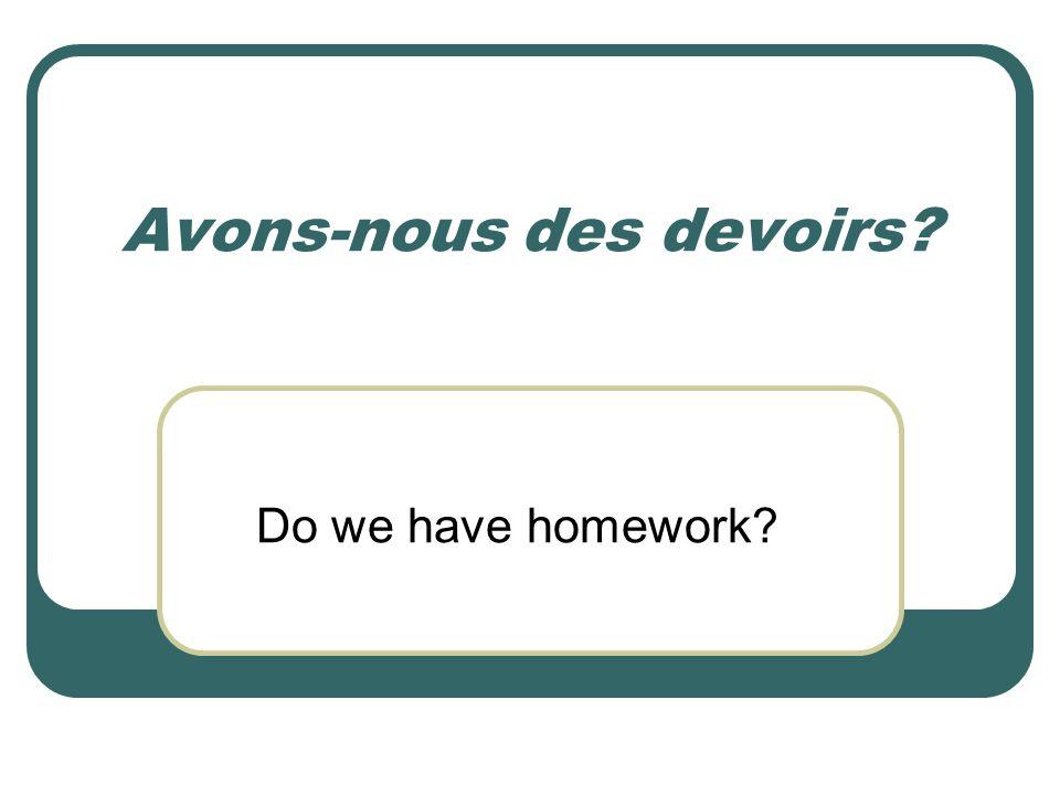 Avons-nous des devoirs