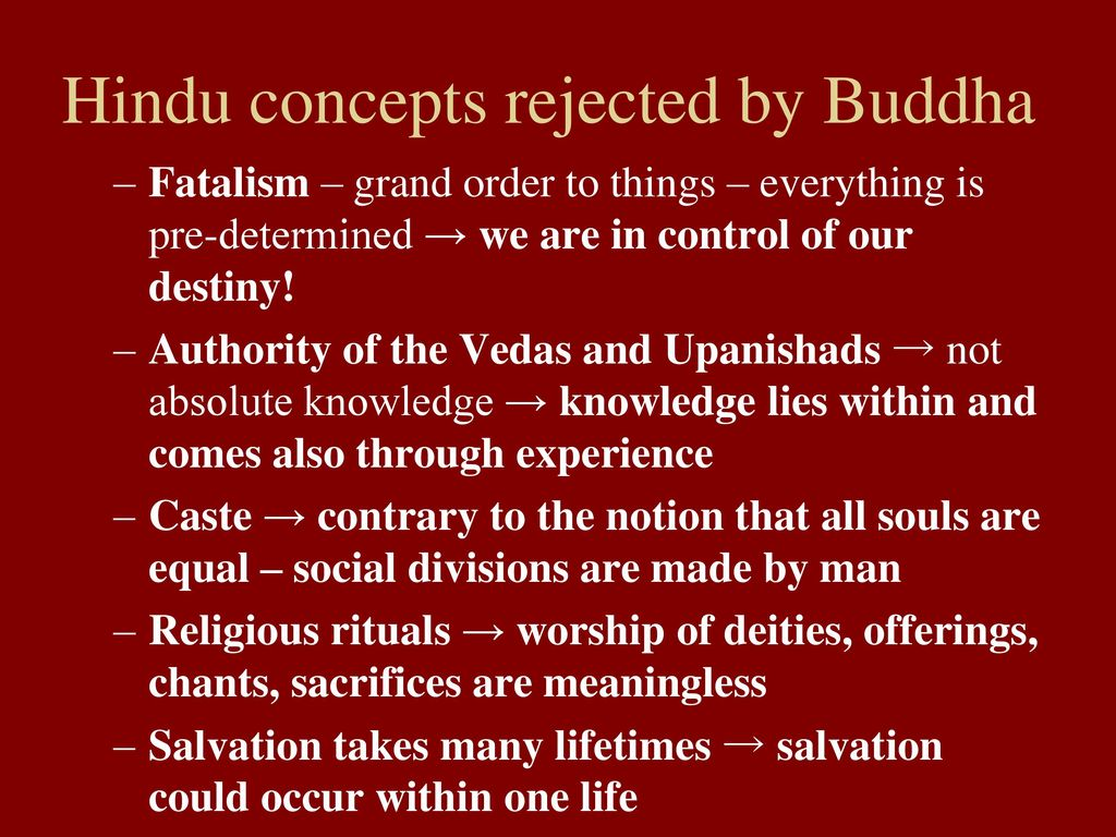 hinduism and fatalism The history and basic beliefs and practices of hinduism are discussed, as well as a christian evaluation of hinduism.
