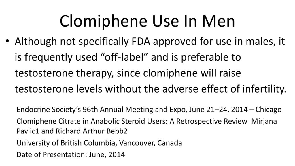 clomiphene citrate use by men