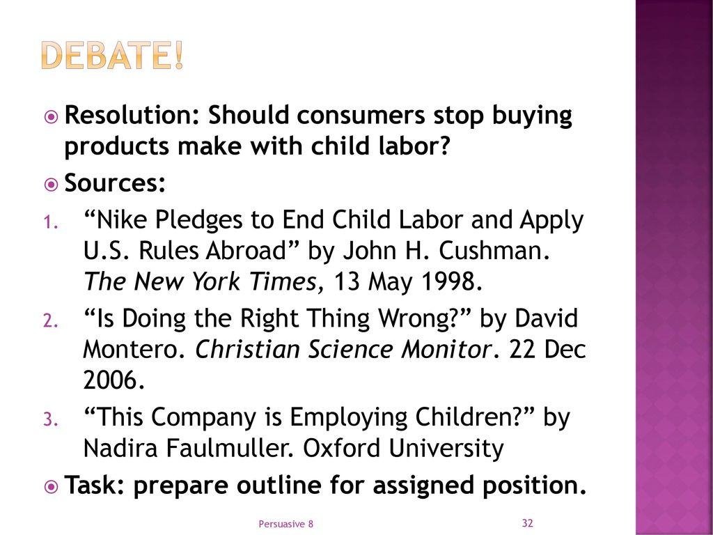 Child labour debate essay