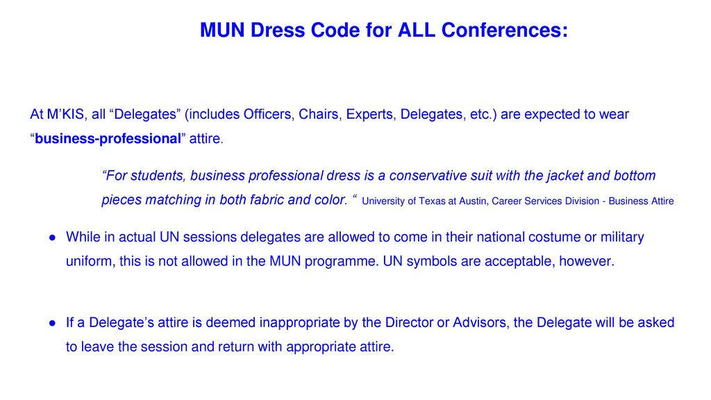 mun dress expectations - ppt download, Presentation templates