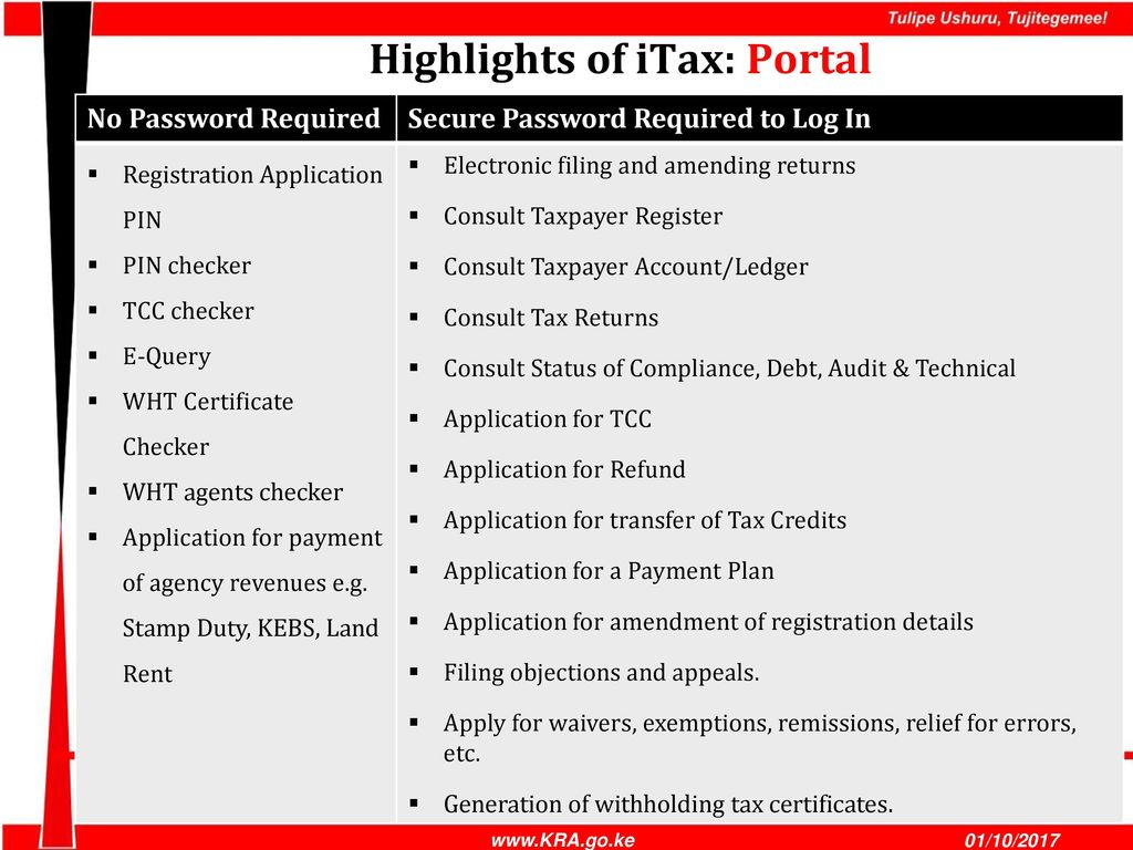 Integrated tax management system itax ppt download 8 highlights xflitez Choice Image