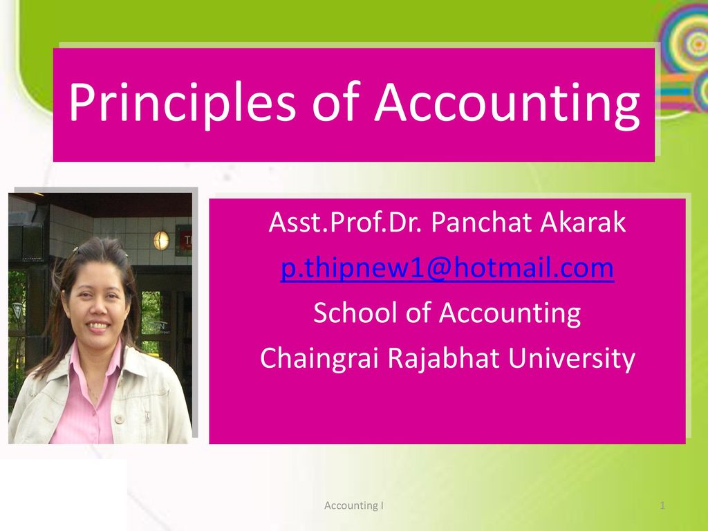 principles of accounting 1 Principles of accounting financial and managerial accounting principles basic  accounting statements, processes, and management applications open to all.