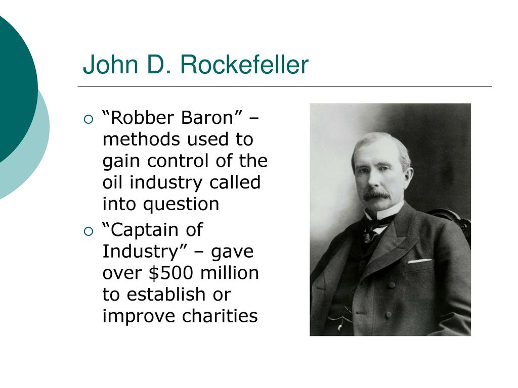 robber baron or captain of industry a paper on rockefeller Mr hull us history chapter 4 study carnegie as both robber barons and captains of industry like rockefeller and carnegie as both robber barons.